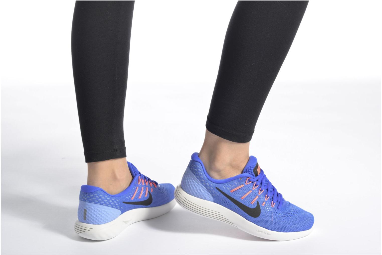 Wmns Nike Lunarglide 8 Hot Punch/Black-Lava Glow-Aluminum