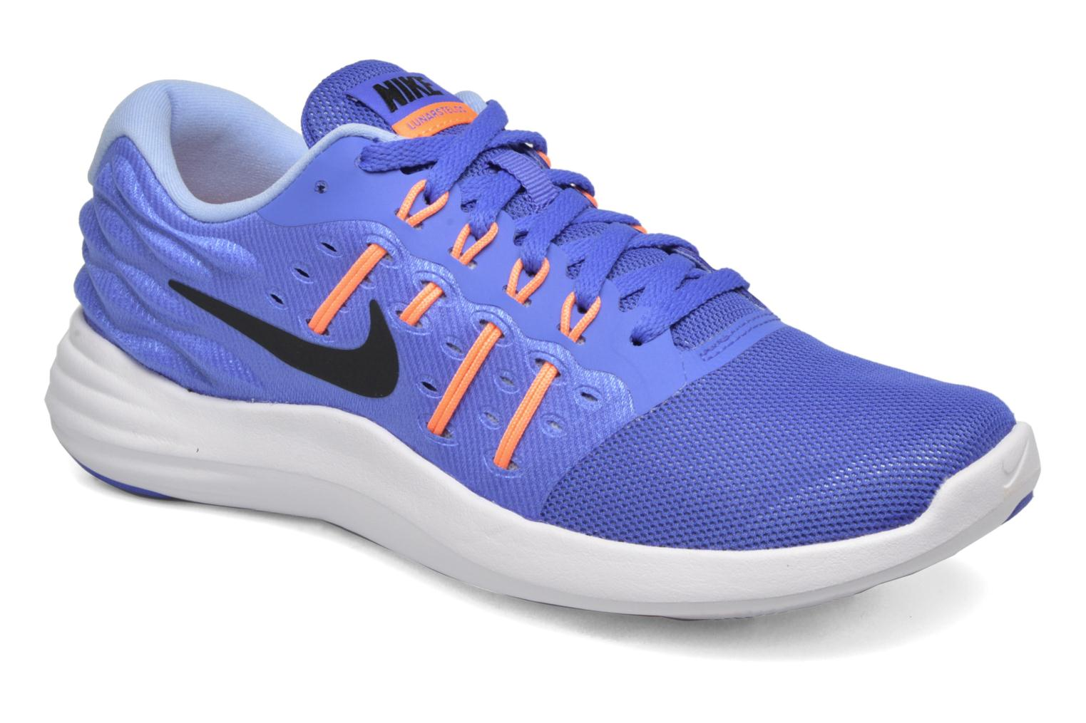 Wmns Nike Lunarstelos Medium Blue/Black-Sunset Glow-Aluminum