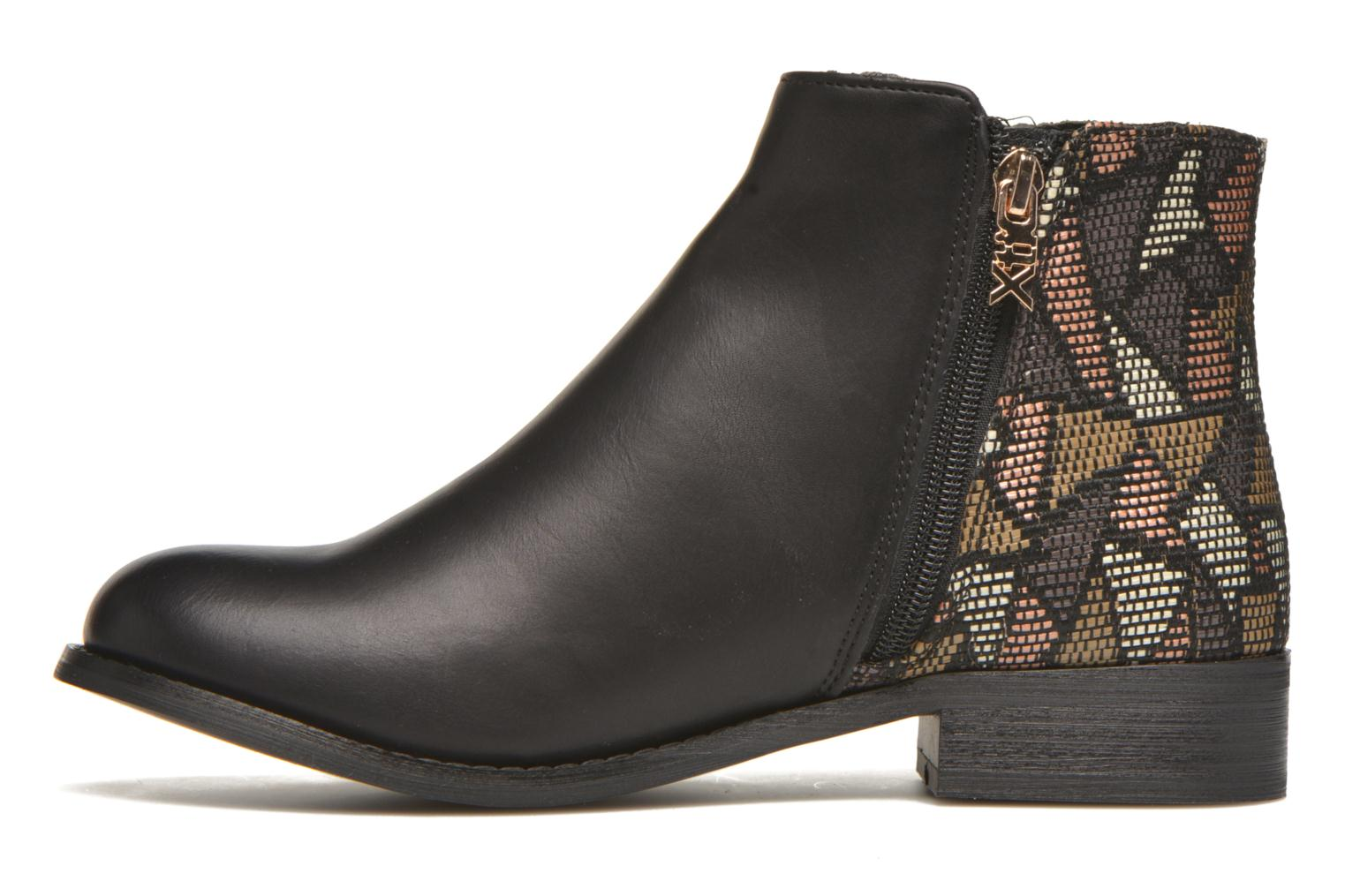 Ankle boots Xti Patch-46068 Black front view