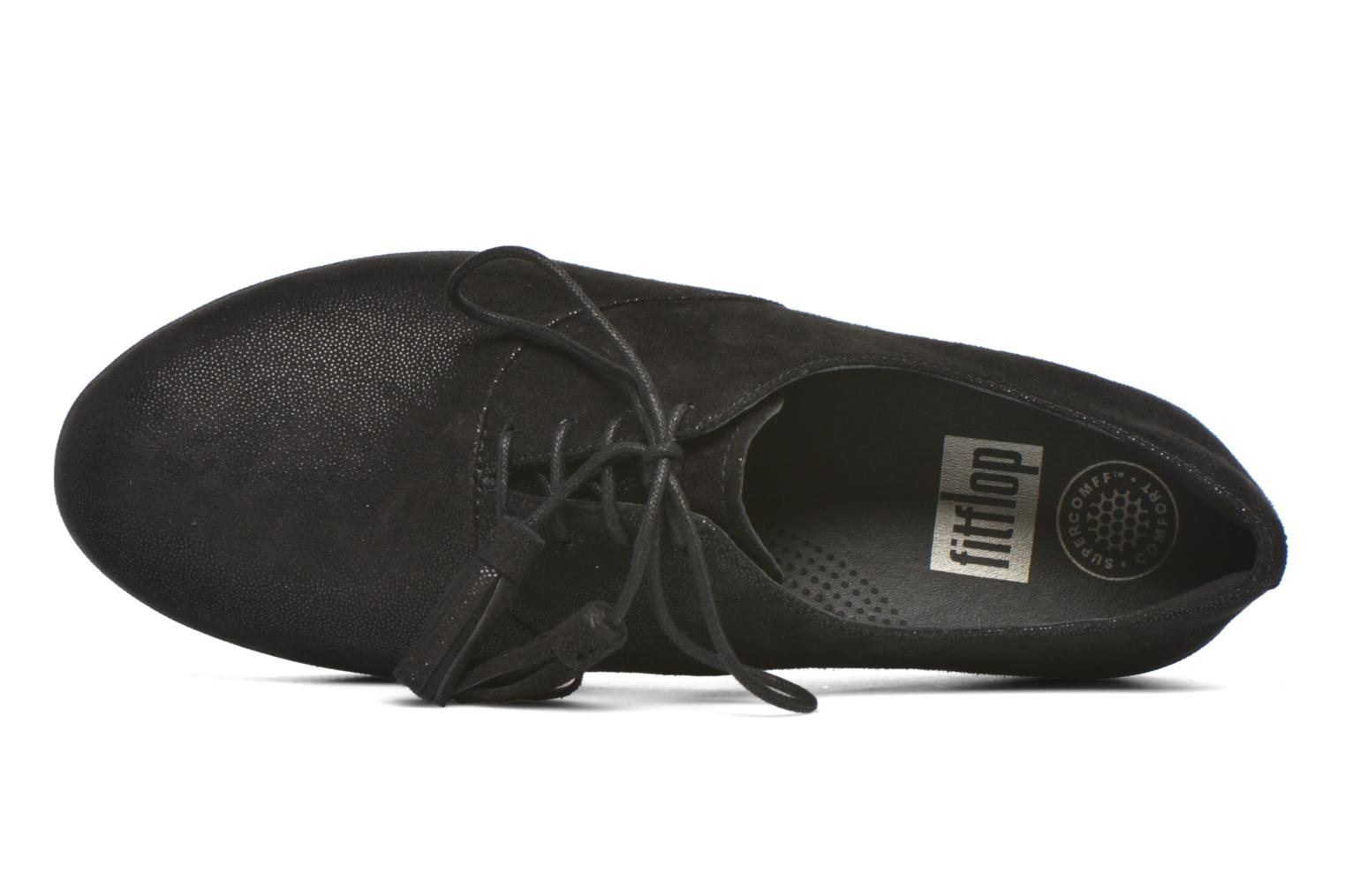Lace-up shoes FitFlop Classic Tassel Superoxford Black view from the left