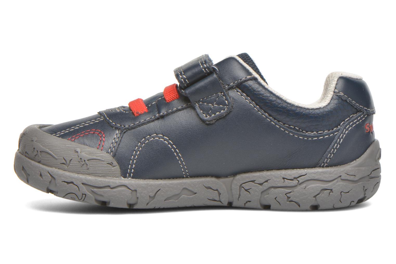 Chaussures à scratch Clarks BrontoWalk Inf Bleu vue face