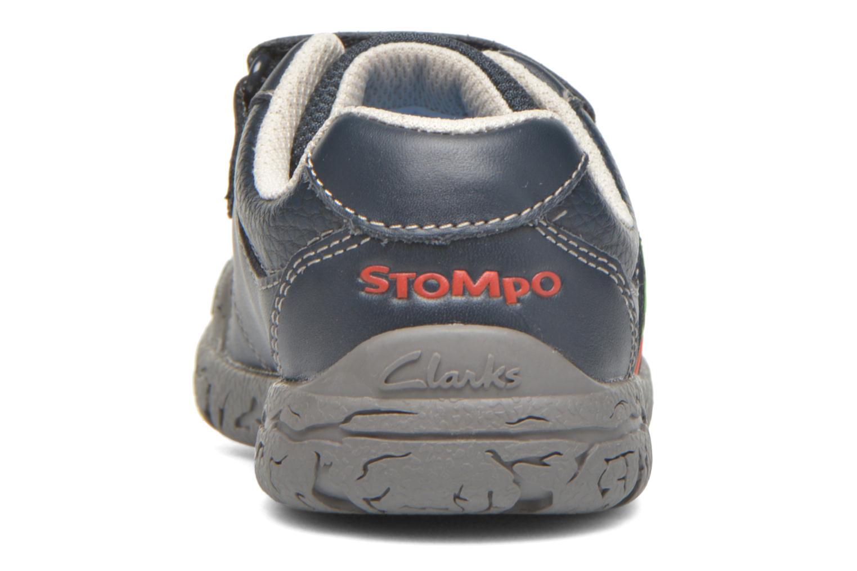 Zapatos con velcro Clarks BrontoWalk Inf Azul vista lateral derecha