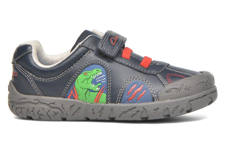 Zapatos con velcro Clarks BrontoWalk Inf Azul vistra trasera