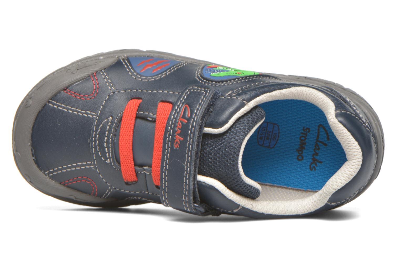 Zapatos con velcro Clarks BrontoWalk Inf Azul vista lateral izquierda