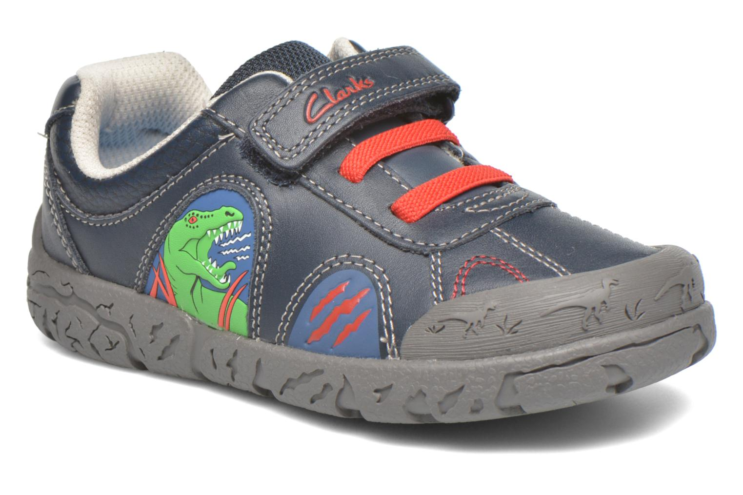 Velcro shoes Clarks BrontoWalk Inf Blue detailed view/ Pair view