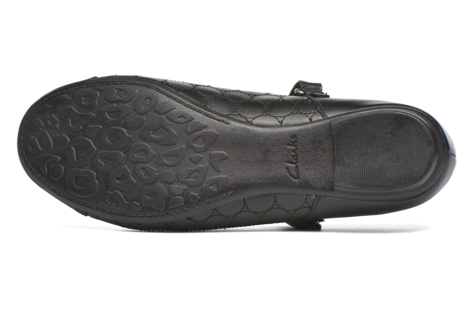 Ballet pumps Clarks Tizz Whizz BL Black view from above