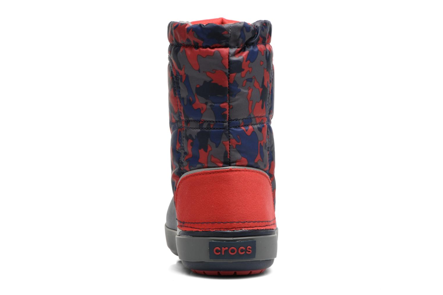 Boots & wellies Crocs Crocband Lodgepoint Graphic K Blue view from the right