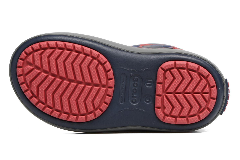 Bottes Crocs Crocband Lodgepoint Graphic K Bleu vue haut