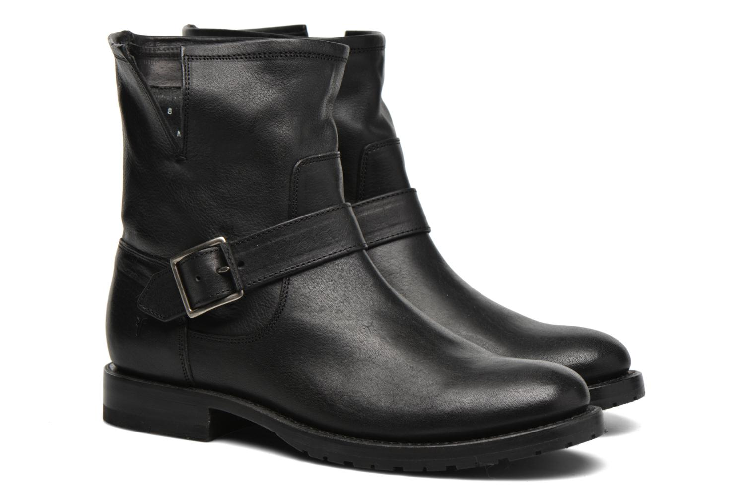 Bottines et boots Frye Natalie Short Engineer Noir vue 3/4