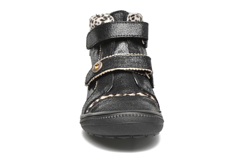 Chaussures à scratch Catimini Autruche Noir vue portées chaussures