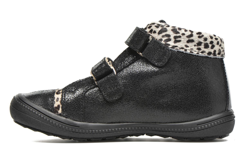 Chaussures à scratch Catimini Autruche Noir vue face