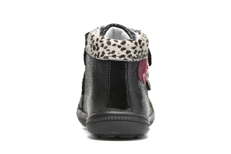 Chaussures à scratch Catimini Autruche Noir vue droite