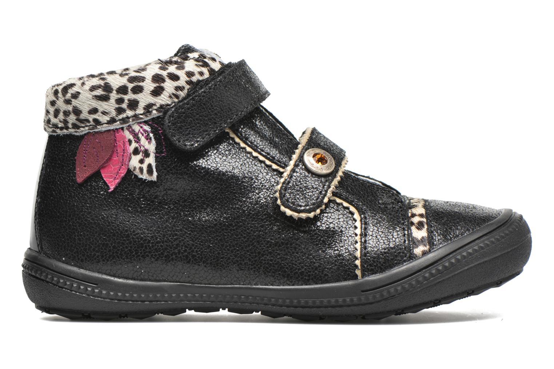 Chaussures à scratch Catimini Autruche Noir vue derrière