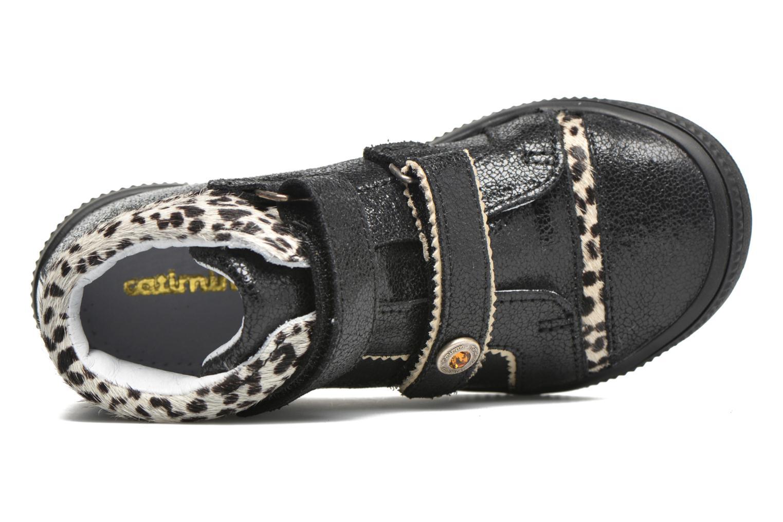 Chaussures à scratch Catimini Autruche Noir vue gauche