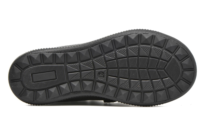 Chaussures à scratch Catimini Autruche Noir vue haut
