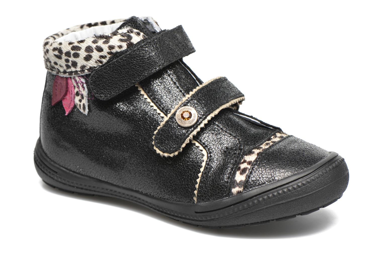 Chaussures à scratch Catimini Autruche Noir vue détail/paire