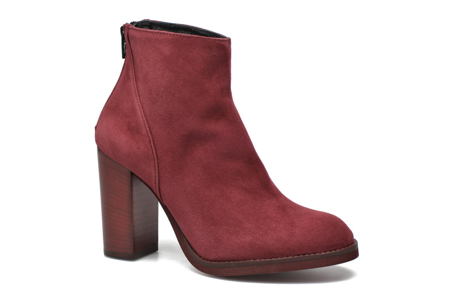 Ankle boots Minelli Orka Burgundy detailed view/ Pair view