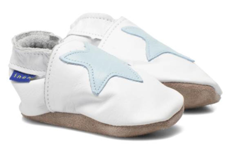 Pantuflas Inch Blue Star Blanco vista 3/4