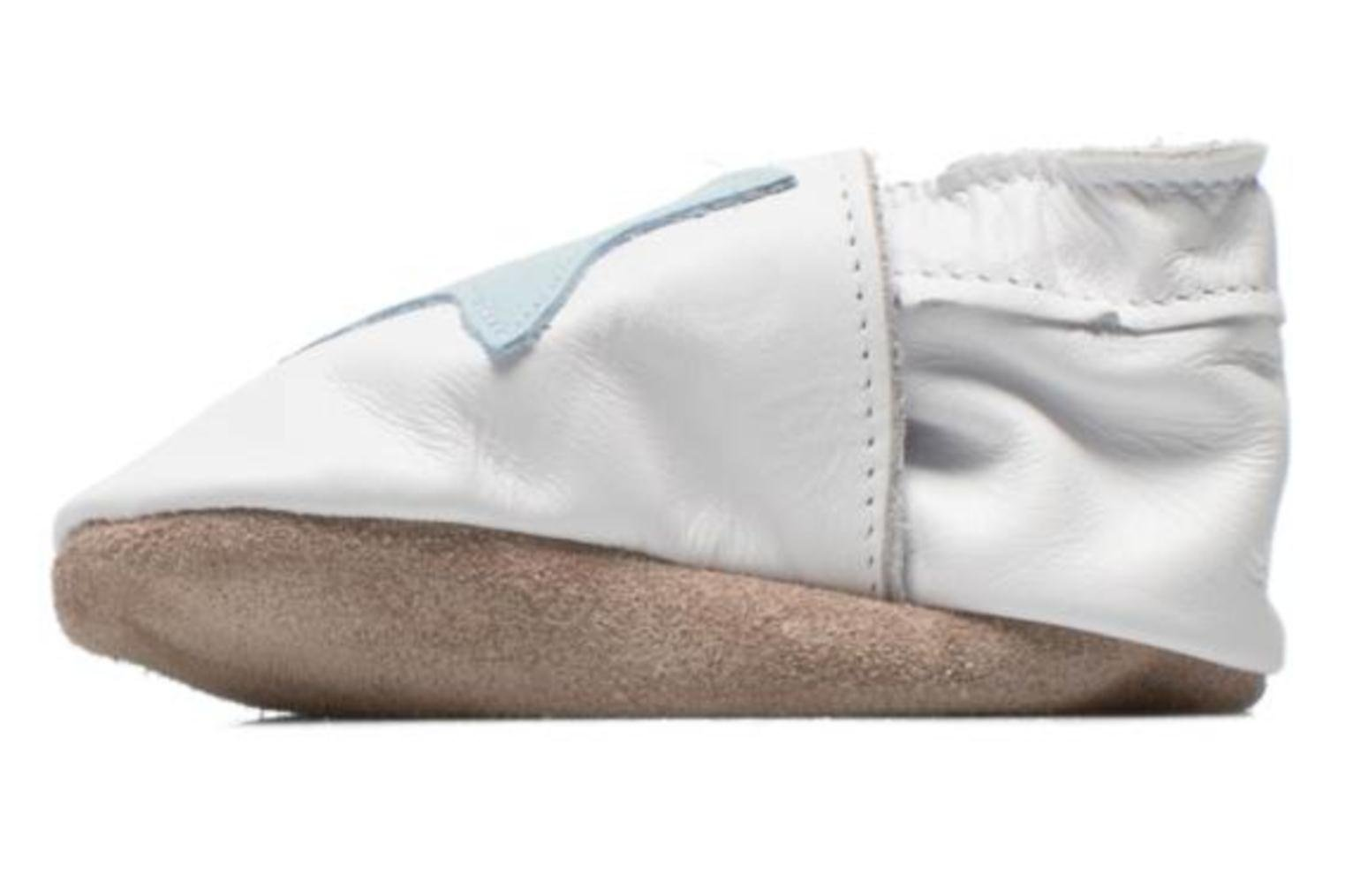 Chaussons Inch Blue Star Blanc vue face