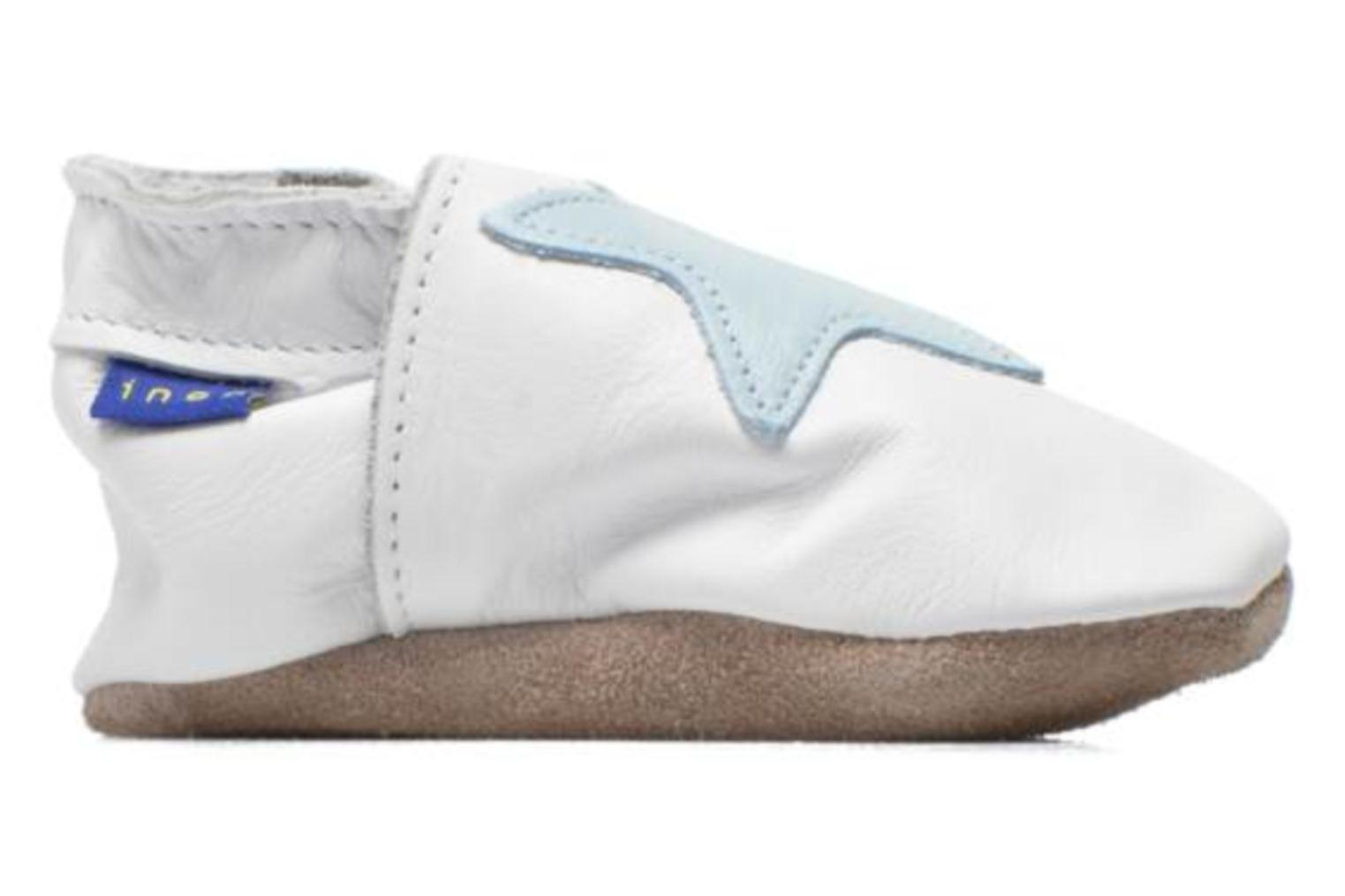 Slippers Inch Blue Star White back view