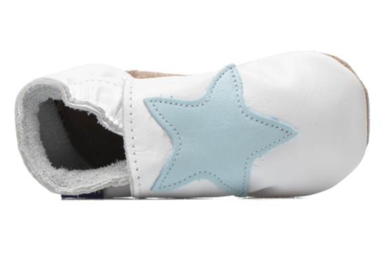 Pantuflas Inch Blue Star Blanco vista lateral izquierda