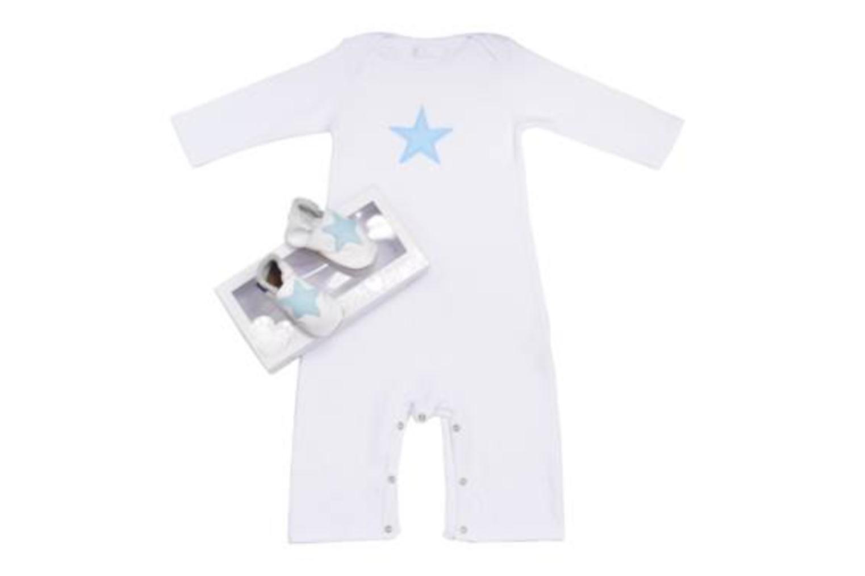 Chaussons Inch Blue Star Blanc vue détail/paire