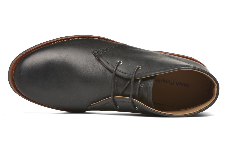 Zapatos con cordones Hush Puppies Kieran Charge Negro vista lateral izquierda