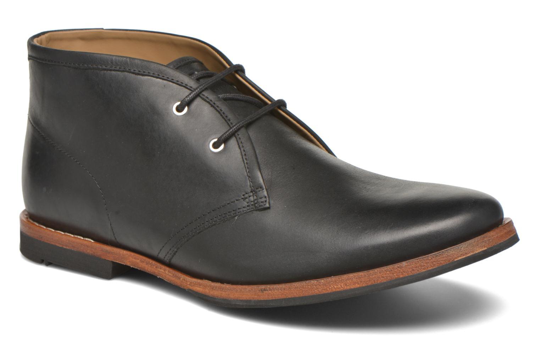 Zapatos con cordones Hush Puppies Kieran Charge Negro vista de detalle / par
