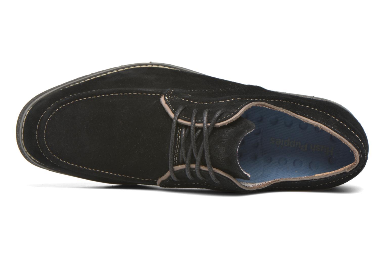 Zapatos con cordones Hush Puppies Hade Jester Negro vista lateral izquierda