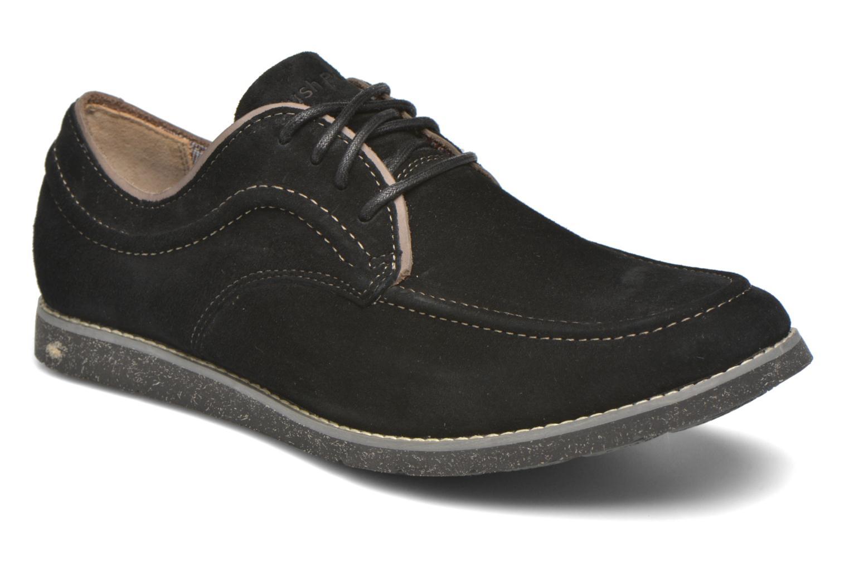 Zapatos con cordones Hush Puppies Hade Jester Negro vista de detalle / par