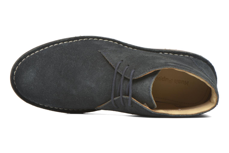 Zapatos con cordones Hush Puppies Lord Azul vista lateral izquierda