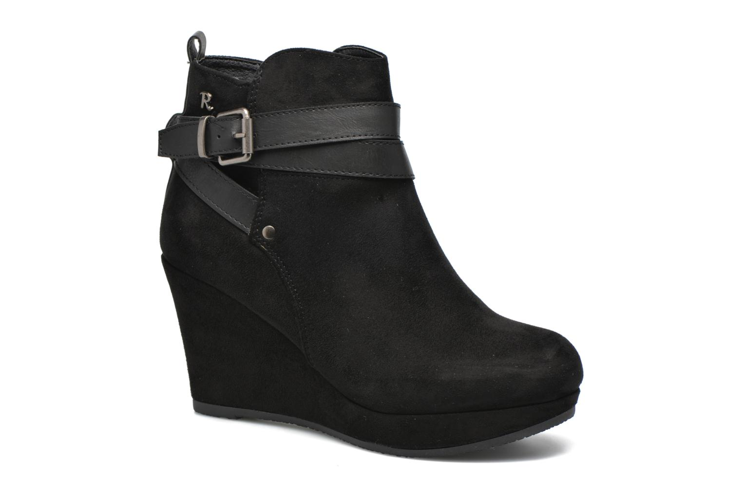 Ankle boots Refresh Cécile 63046 Black detailed view/ Pair view