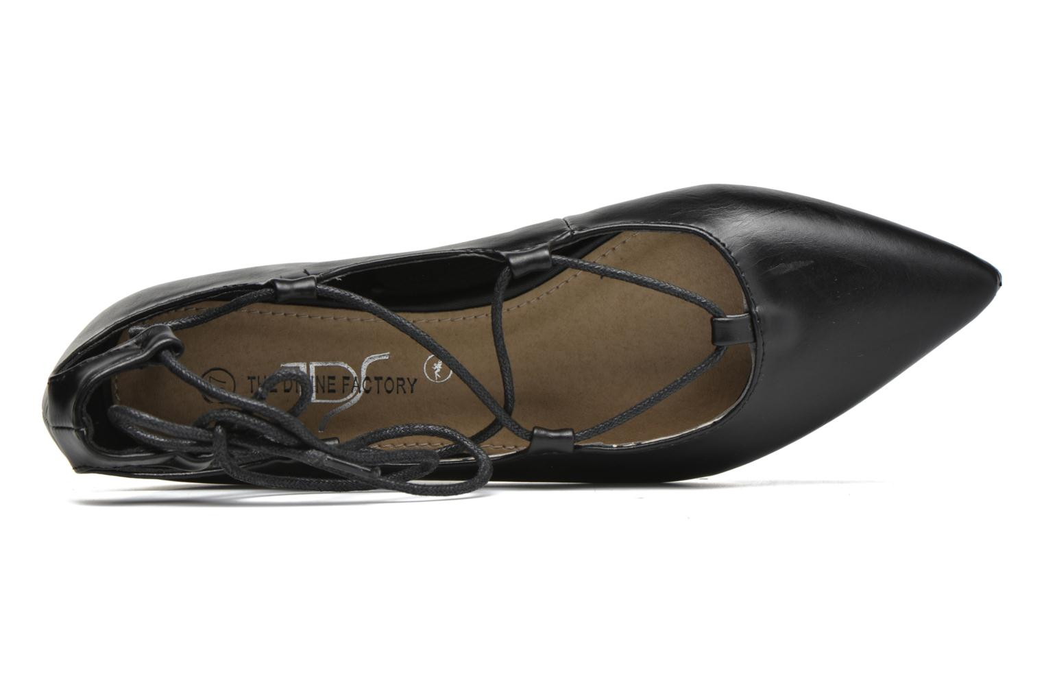 Ballet pumps Divine Factory Lola Black view from the left