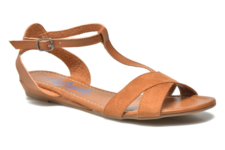 Sandaler Refresh Jardina-61785 Brun detaljeret billede af skoene