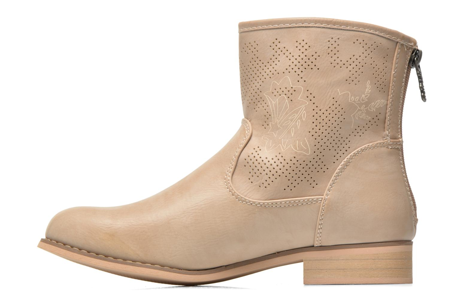 Ankle boots Refresh Zélina-61983 Beige front view