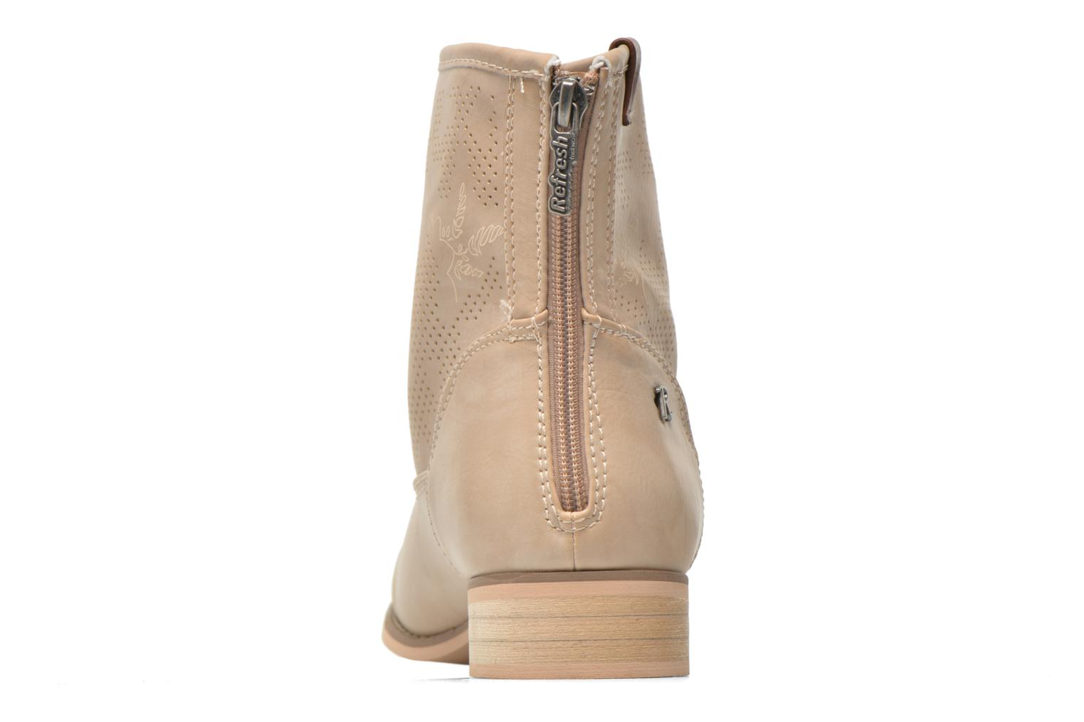 Ankle boots Refresh Zélina-61983 Beige view from the right