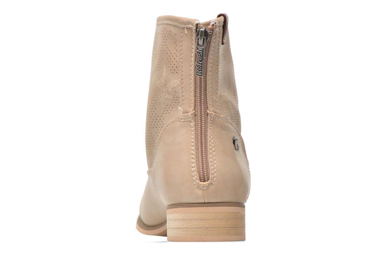 Bottines et boots Refresh Zélina-61983 Beige vue droite