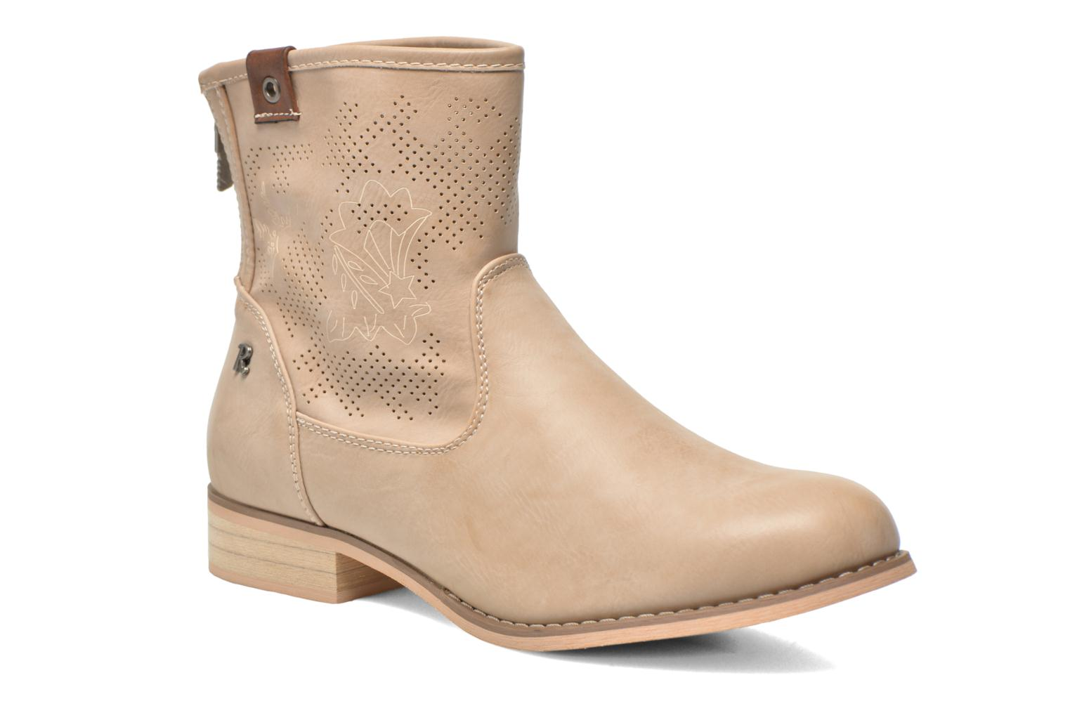 Ankle boots Refresh Zélina-61983 Beige detailed view/ Pair view