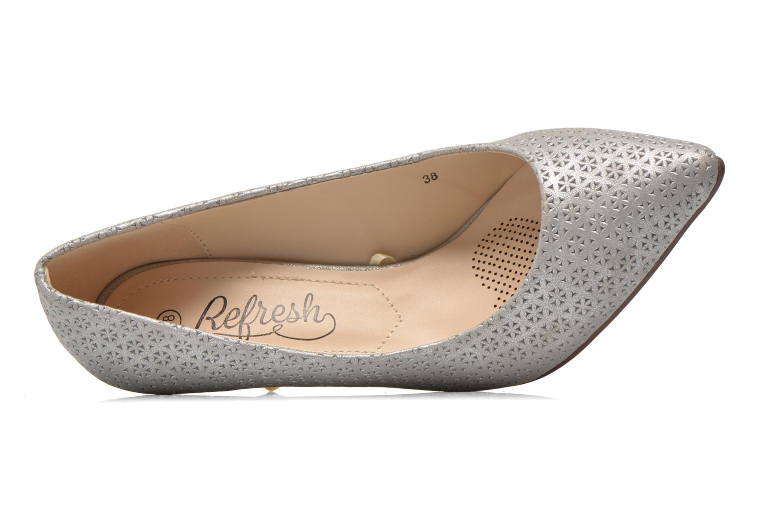 High heels Refresh Inidia-62055 Silver view from the left