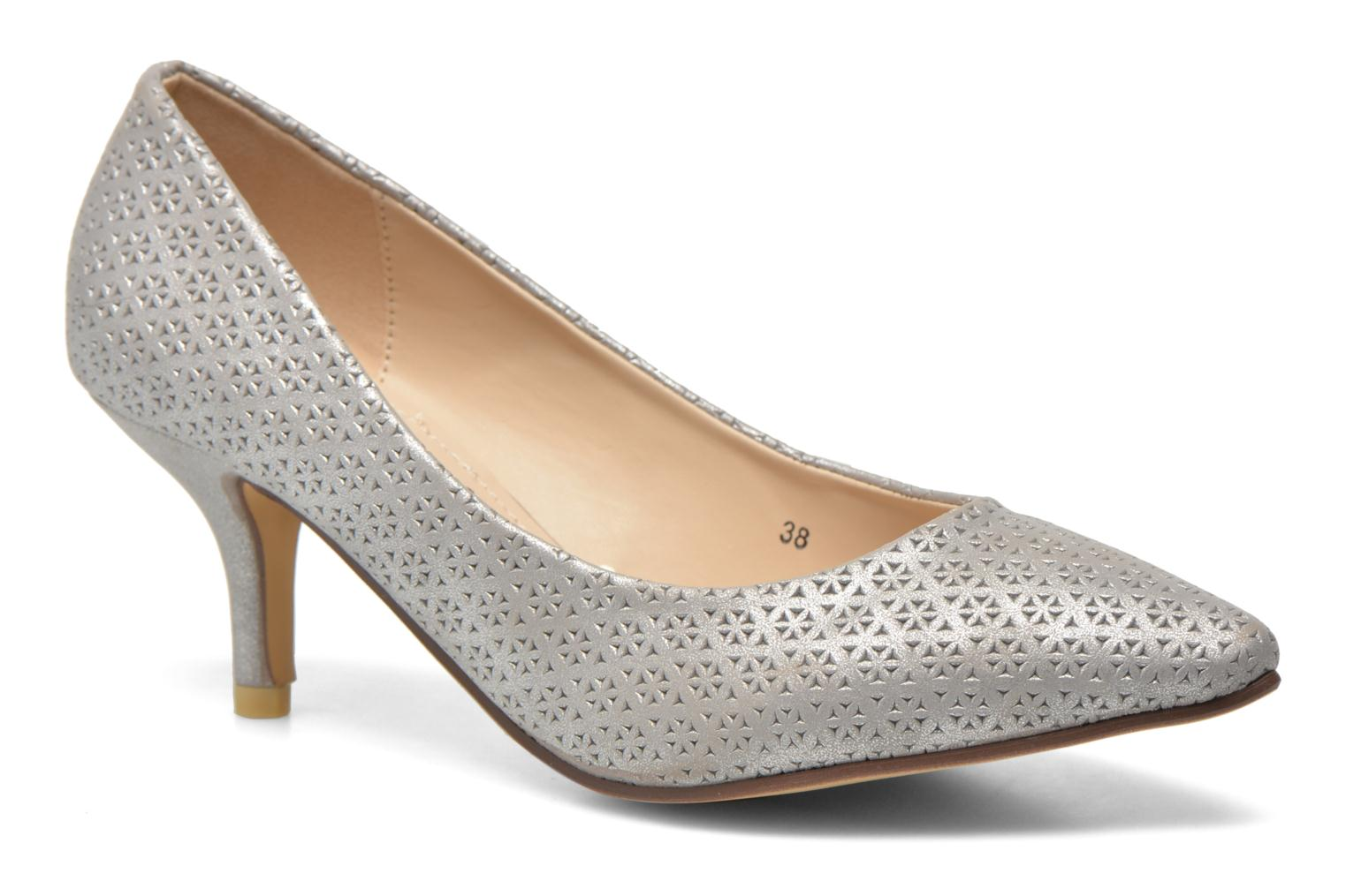 High heels Refresh Inidia-62055 Silver detailed view/ Pair view