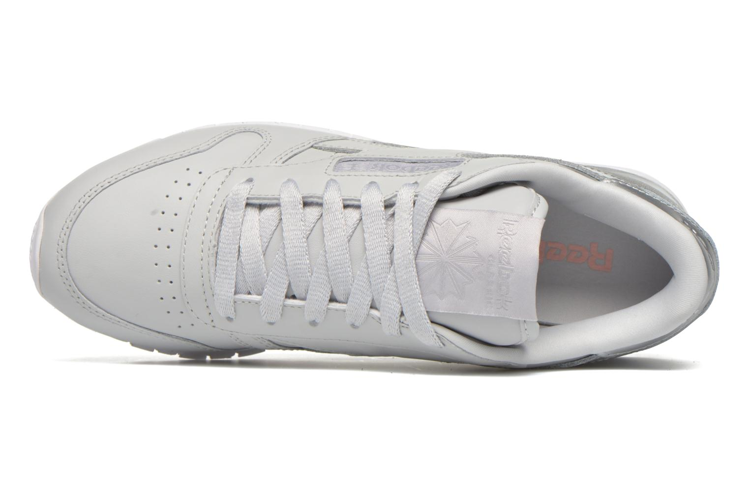 Trainers Reebok Cl Lthr Matte Shine Grey view from the left