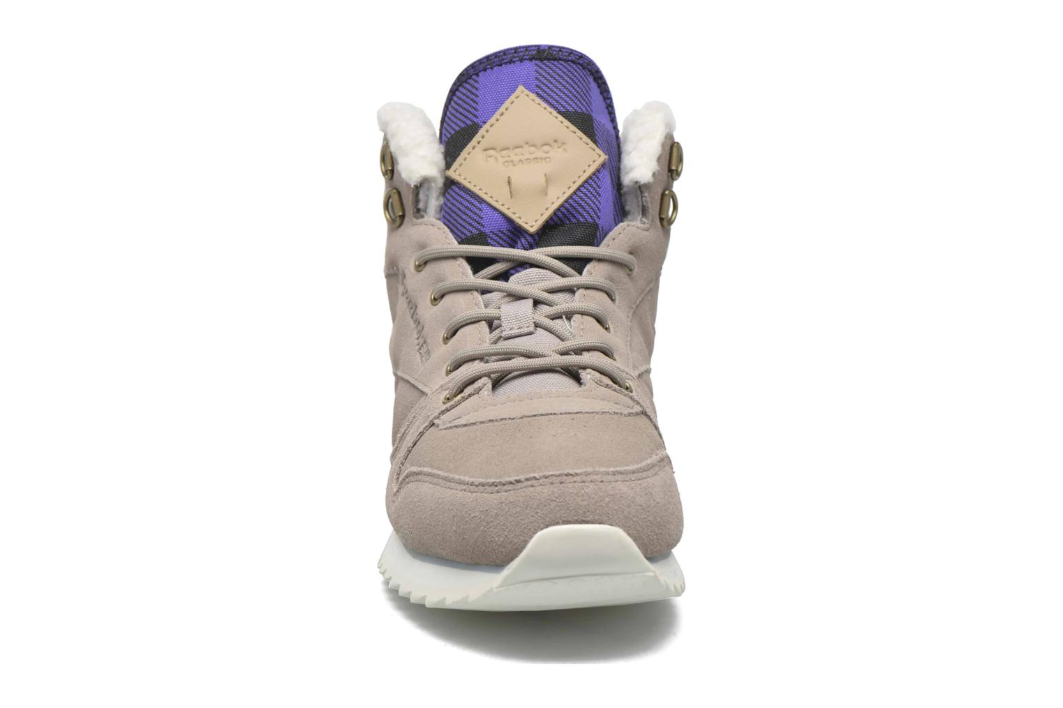 Trainers Reebok Cl Lthr Mid Outdoor Grey model view