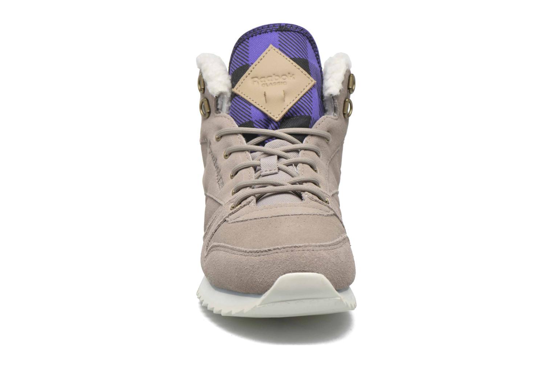 Sneaker Reebok Cl Lthr Mid Outdoor grau schuhe getragen