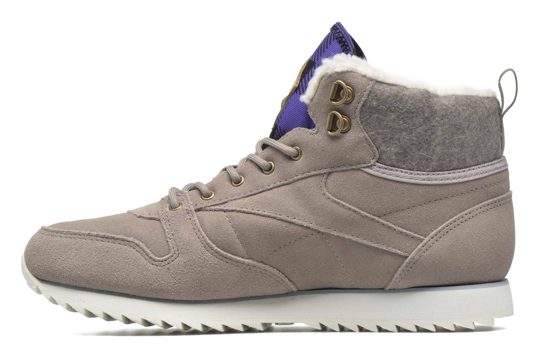 Sneaker Reebok Cl Lthr Mid Outdoor grau ansicht von vorne