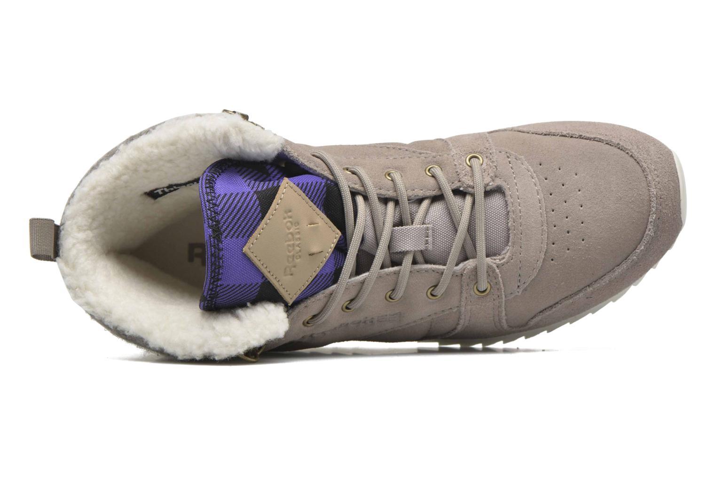 Sneaker Reebok Cl Lthr Mid Outdoor grau ansicht von links