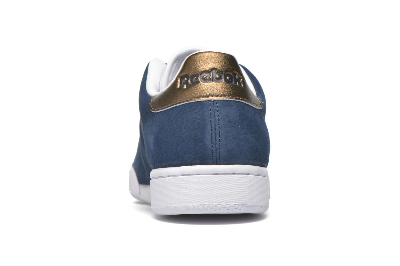Baskets Reebok Npc II Met Bleu vue droite