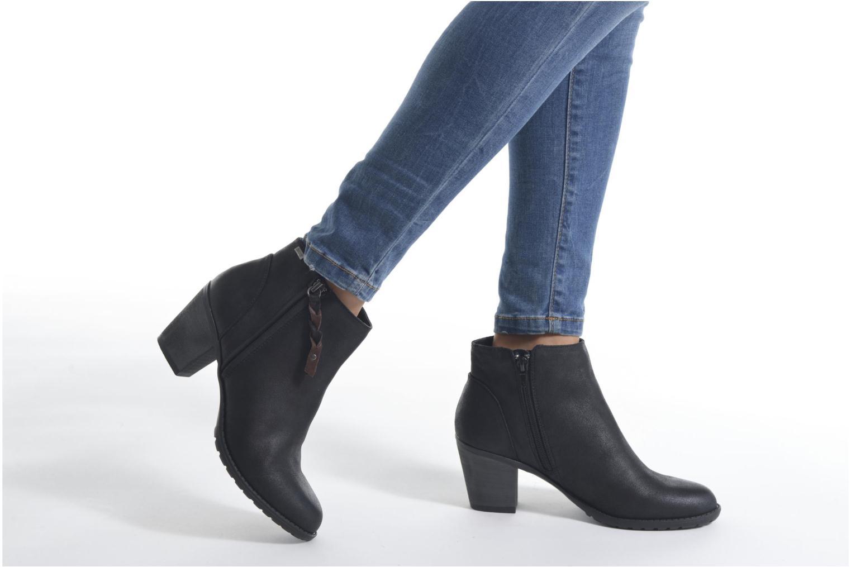 Bottines et boots MTNG Joplin Noir vue bas / vue portée sac