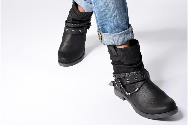 Bottines et boots MTNG Fausta Marron vue bas / vue portée sac