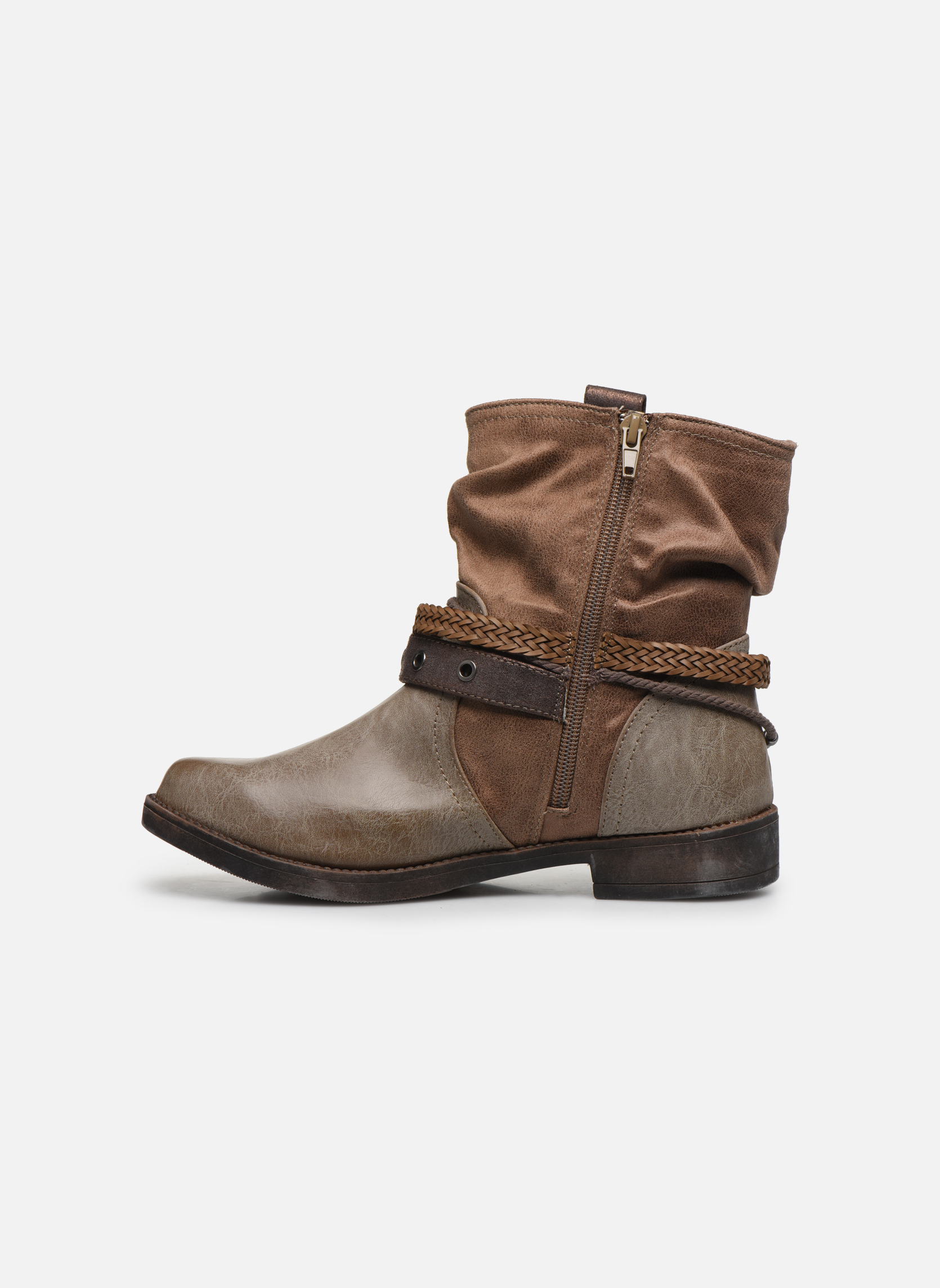 Bottines et boots MTNG Fausta Marron vue face