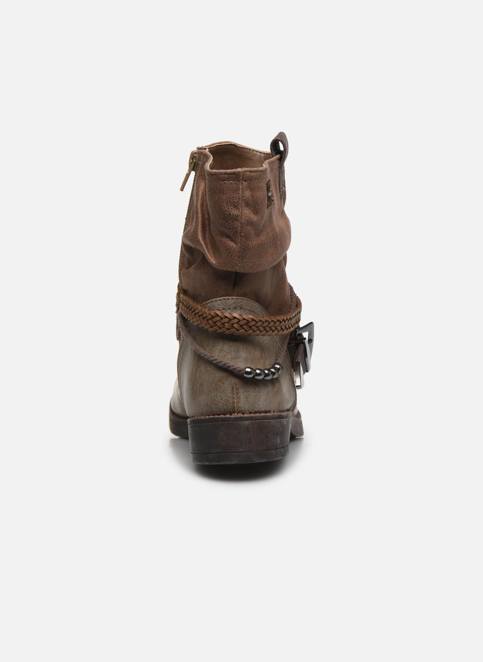 Bottines et boots MTNG Fausta Marron vue droite